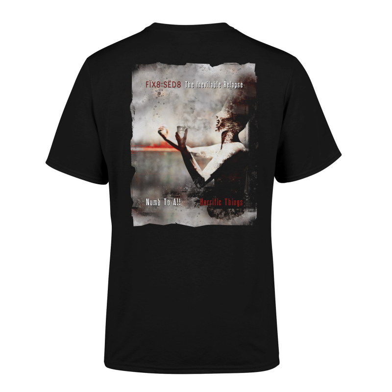 Fix8:Sed8 - The Inevitable Relapse Limited T-Shirt  |  XXL  |  Black