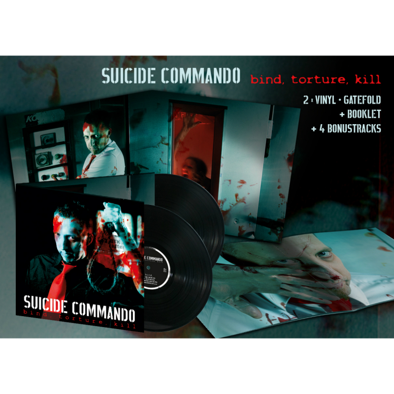 Suicide Commando - Bind, Torture, Kill (Re-Release) Vinyl 2-LP Gatefold  |  black